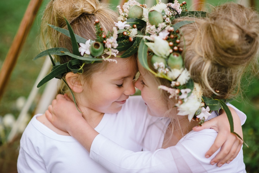 100 Layer Cakelet - Adelaide Boutique Photographer - Snugglepot and Cuddlepie Flower Girls