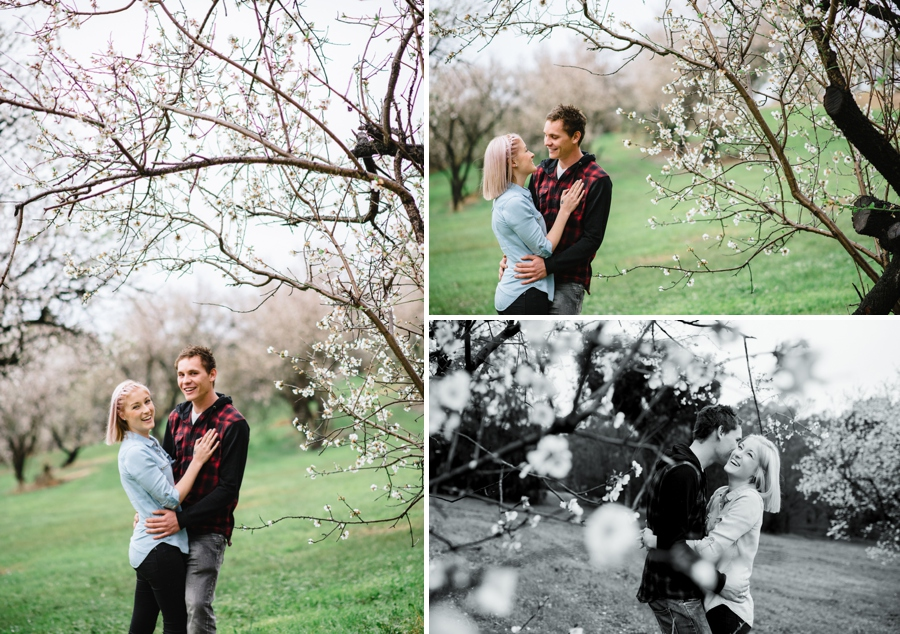 Adelaide Boutique Photographer - Engagement within the Blossoms   Lucinda May Photography